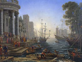 Claude Lorrain | Seaport with the Embarkation of Saint Ursula | Giclée Canvas Print