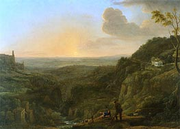 Claude Lorrain | A View of the Campagna from Tivoli | Giclée Canvas Print