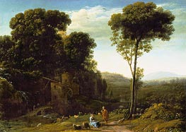 Claude Lorrain | Pastoral Landscape with a Mill | Giclée Canvas Print