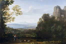 Claude Lorrain | Landscape with Apollo and Mercury, 1660 | Giclée Canvas Print