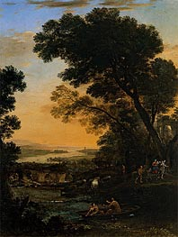 Claude Lorrain | Pastoral Landscape with a Flight into Egypt, 1663 | Giclée Canvas Print