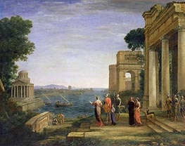 Claude Lorrain | Aeneas and Dido in Carthage | Giclée Canvas Print