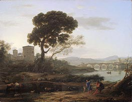 Claude Lorrain | Landscape near Rome with a View of the Ponte Molle | Giclée Canvas Print