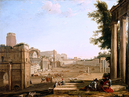 The Campo Vaccino, Rome, c.1640/45 | Claude Lorrain | Painting Reproduction