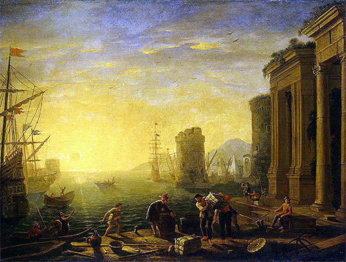 Morning in the Harbour, c.1635/40 | Claude Lorrain | Painting Reproduction
