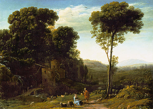 Pastoral Landscape with a Mill, 1634 | Claude Lorrain | Giclée Canvas Print
