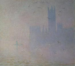 Monet | Houses of Parliament, Seagulls | Giclée Canvas Print