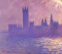 Monet | Houses of Parliament, Sunlight Effect | Giclée Canvas Print