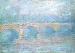 Monet | Waterloo Bridge, London, at Sunset | Giclée Canvas Print