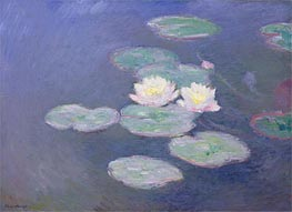 Monet | Water Lilies, Evening Effect | Giclée Canvas Print