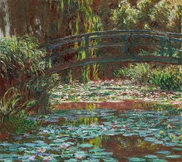 Monet | Japanese Bridge at Giverny (Water Lily Pond) | Giclée Canvas Print
