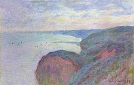 Monet | Steep Cliffs near Dieppe | Giclée Canvas Print
