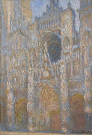 Monet | The Portal of Rouen Cathedral at Midday | Giclée Canvas Print