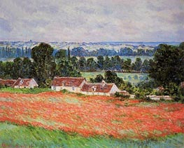 Monet | Poppy Field at Giverny | Giclée Canvas Print