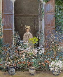 Monet | Camille Monet at the Window, Argenteuil | Giclée Canvas Print