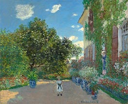 Monet | The Artist's House at Argenteuil | Giclée Canvas Print