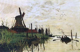 Monet | Windmill at Zaandam | Giclée Canvas Print