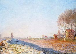 Monet | The Plain of Colombes, White Frost | Giclée Canvas Print