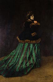 Monet   Camille (The Woman in the Green Dress), 1866 by   Giclée Canvas Print