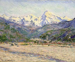 Monet | The Valley of the Nervia | Giclée Canvas Print