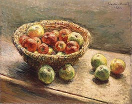 Monet | A Bowl of Apples | Giclée Canvas Print