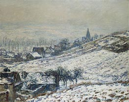 Monet | Winter in Giverny, 1885 | Giclée Canvas Print