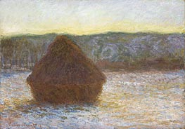 Monet | Stack of Wheat (Thaw, Sunset), 1891 | Giclée Canvas Print