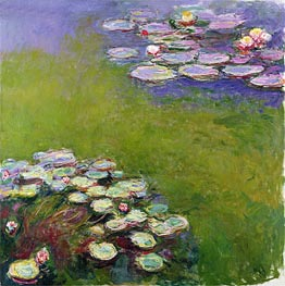 Monet | Water Lilies, Harmony in Blue, c.1914/17 | Giclée Canvas Print