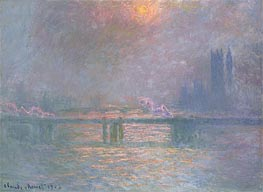 Monet | The Thames with Charing Cross Bridge, 1903 | Giclée Canvas Print