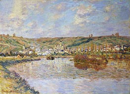 Monet | Late Afternoon, Vetheuil, 1880 | Giclée Canvas Print