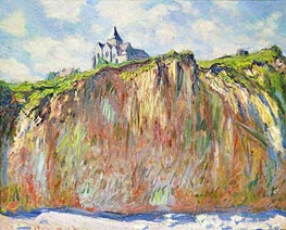 Monet | L'Eglise a Varengeville | Giclée Canvas Print
