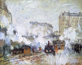 Monet | Gare Saint-Lazare, Arrival of a Train | Giclée Canvas Print