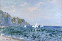 Monet | Cliffs and Sailboats at Pourville | Giclée Canvas Print