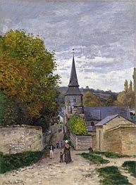Monet | Street in Sainte-Adresse | Giclée Canvas Print