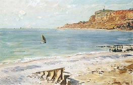 Monet | Seascape at Sainte-Adresse, undated | Giclée Canvas Print