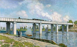 Monet | Railway Bridge at Argenteuil, 1873 | Giclée Canvas Print