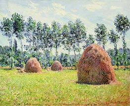 Monet | Haystacks at Giverny, 1884 | Giclée Canvas Print