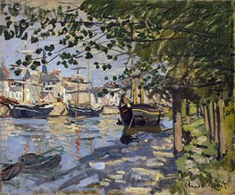 Monet | Seine at Rouen, 1872 | Giclée Canvas Print