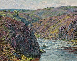 Monet | Ravines of the Creuse at the End of the Day, 1889 | Giclée Canvas Print