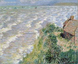 Monet | Rising Tide at Pourville, 1882 | Giclée Canvas Print
