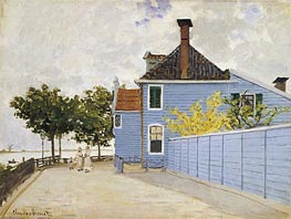Monet | The Blue House, Zaandam | Giclée Canvas Print