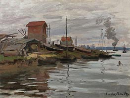Monet | The Seine at Petit-Gennevilliers, 1872 | Giclée Canvas Print