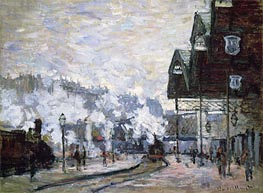 Monet | Gare Saint-Lazare, Paris, 1877 | Giclée Canvas Print