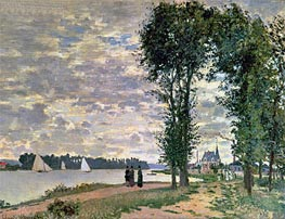 Monet | The Banks of the Seine at Argenteuil, 1872 | Giclée Canvas Print