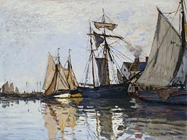 Monet | The Port of Honfleur, c.1865 | Giclée Canvas Print