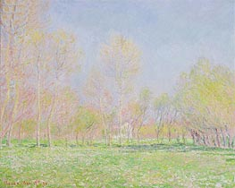 Monet | Spring in Giverny, 1890 | Giclée Canvas Print