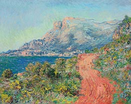 Monet | The Red Road near Menton, 1884 | Giclée Canvas Print