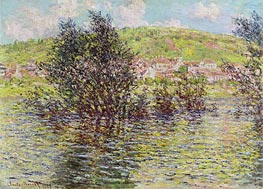 Monet | Vetheuil, View from Lavacourt, 1879 | Giclée Canvas Print