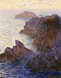 Monet | Rocky Point at Port-Goulphar, 1887 | Giclée Canvas Print