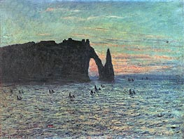 Monet | The Hollow Needle at Etretat, 1883 | Giclée Canvas Print